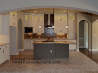 custom kitchen floor plan hays county tx